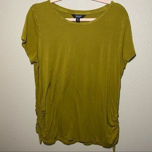 Simply Vera Vera Wang Ruched-Side Tee Olive Green
